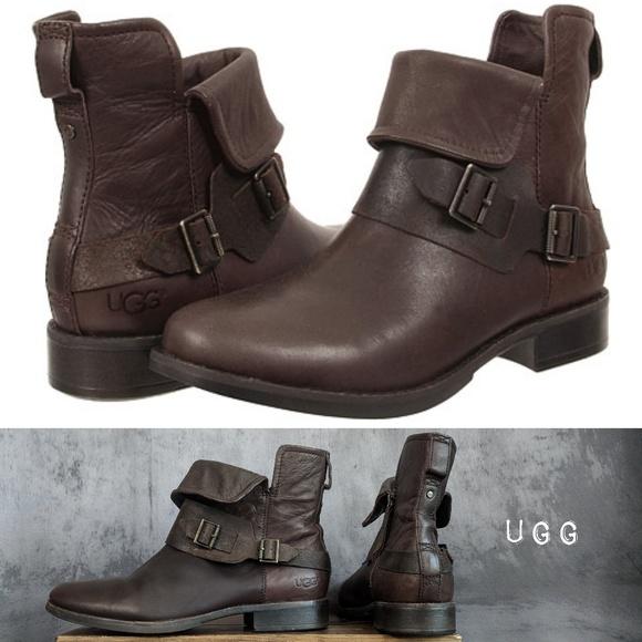 18f32b296c3 UGG Cybele Distress Monk-Strap Lodge Moto boots 😍